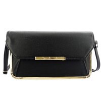 Handcee simple big black ladies handbag PU leather