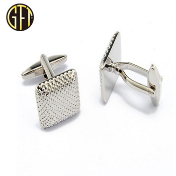 New arrival in 2018 New product custom new design cool silver shinny metal mens cufflinks souvenir