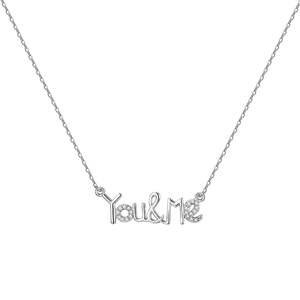 N806109 xuping love you&me alphabet necklace jewelry vendors