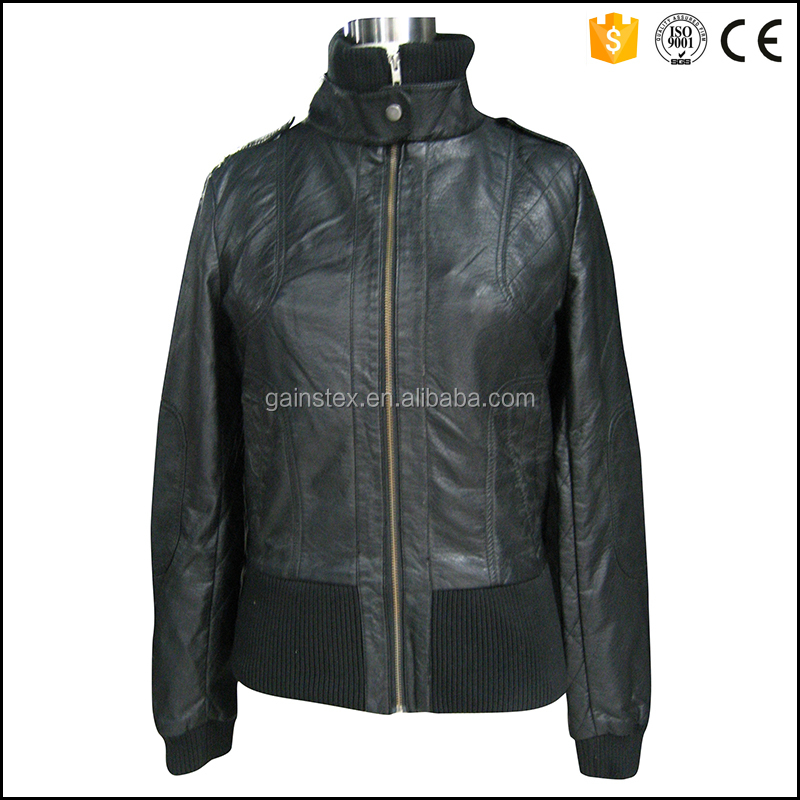 2016 mens latest design leather jacket OEM/ODM for brand series