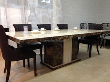 Latest Design of Marble Dining Table with 8 seaters