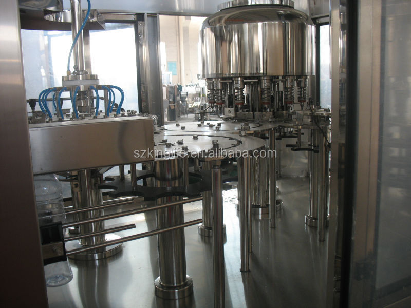 Monoblock machinery and equipment for mineral water plant
