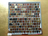 mixed color four shape crystal mosaic tiles