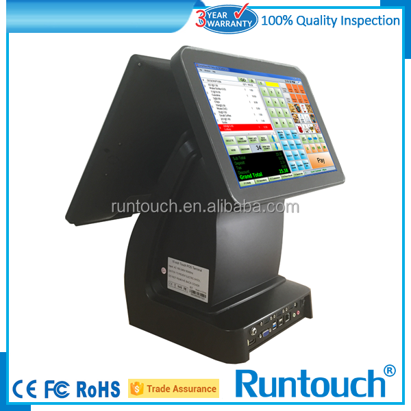"Runtouch intel duo core 15"" android POS with thermal printer"