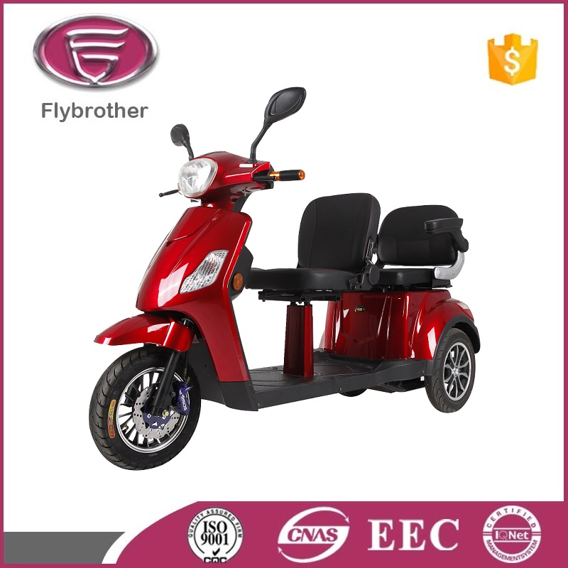 easy using 2 seat indian tricycle adult electric mobility scooter