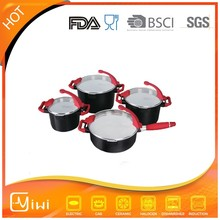 8pcs multi functional LFGB/FDA Certificate kitchen cookware sets cookware