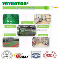 High performance waterproof floor paint system, all weather use polyurethane floor coating