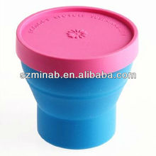 2013 hot sale cute silicone disposable tea cup