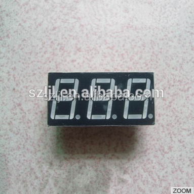 "Yellow 0.25"" 7 segment led display 3 digits LED count down sign board"