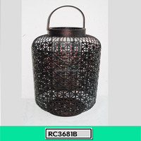 Wire Mesh Home Decoration Metal Candle Lantern