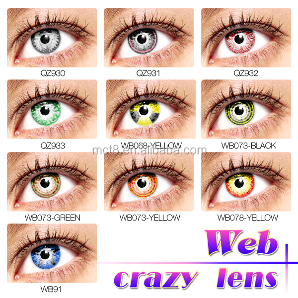 Wholesale lace cosmetic lenses soft 14mm -15mm crazy contact lens