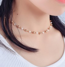 Queena 2017 Korea Style Handmade Jewelry Beads Design Women Sexy Choker Necklace