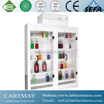 Glass Vessel Cabinet , Lab Storge Cabinet For School