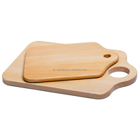 Totally 100% Beech Wooden Eco-friendly Scale Wood Cutting Board with Hole Chopping Board Kitchen Ware