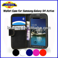 Size 100% Fit ,Credit Card flip case for Samsung Galaxy S4 Active i9295,Galaxy S4 Active flip case----Laudtec