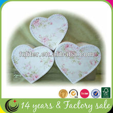 Luxury Fabric Covered Heart Shaped Gift Boxes Supplier