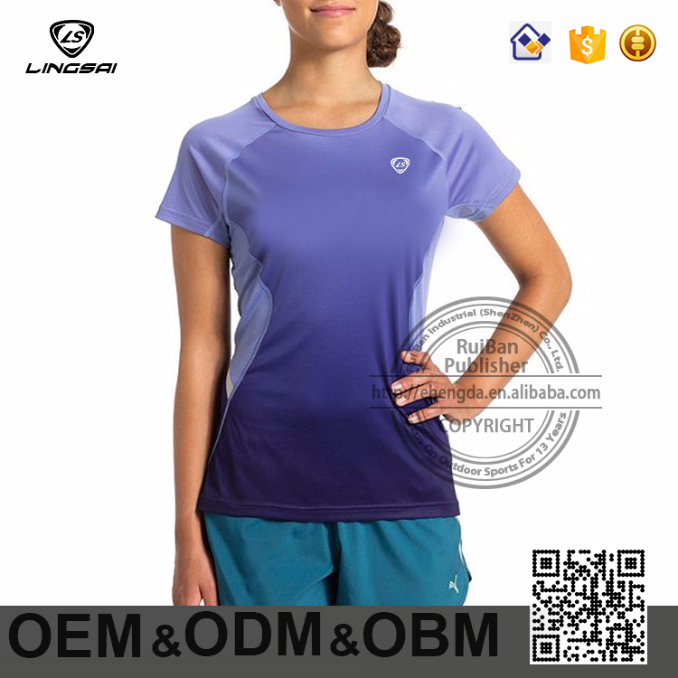 wholesale women Apparel screen clothing sports casual polyester t shirt
