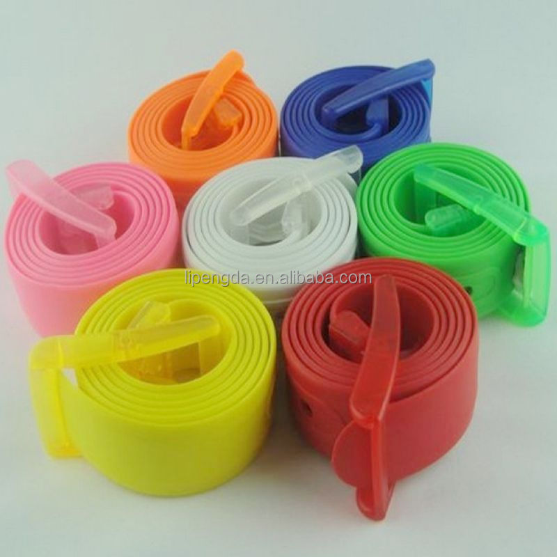 Fruit Golf Baseball Softball Jelly Rubber Silicone Belt Colorful Plastic Belts/Candy Colors Plastic Silicone Belt