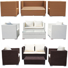 Hot Selling Garden Rattan Sofa with Tea Table