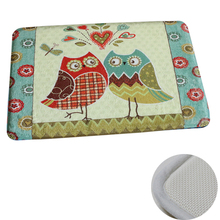 Owl friends custom heat transfer anti slip print memory foam bath mat