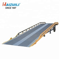 8 ton container portable mobile hydraulic ramp for loading