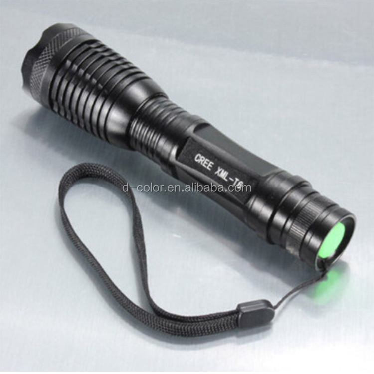 Waterproof Portable Torch LED Flashlight XML-T6 Zoomable AAA /18650 Rechargeable Battery Tactical LED Flashlight