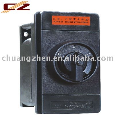 Board back unit explosion-proof 4-pole switch/pushbutton switch