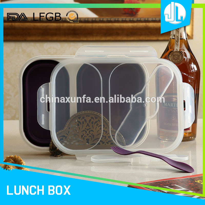 Professional made in china good material FDA grade silicone food container for lunch