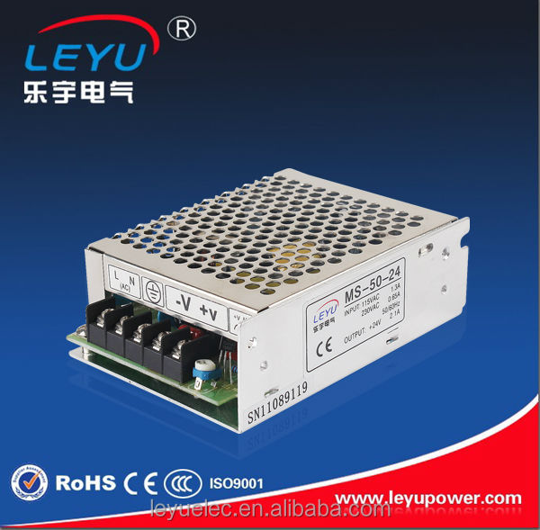 Mini size switching power supply MS-50-24 single output 50W 24VDC power supply