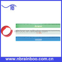 Hot selling top quality promotional 30cm plastic flexible ruler for school ABM160