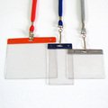 polyester narrow lanyard with badge holder