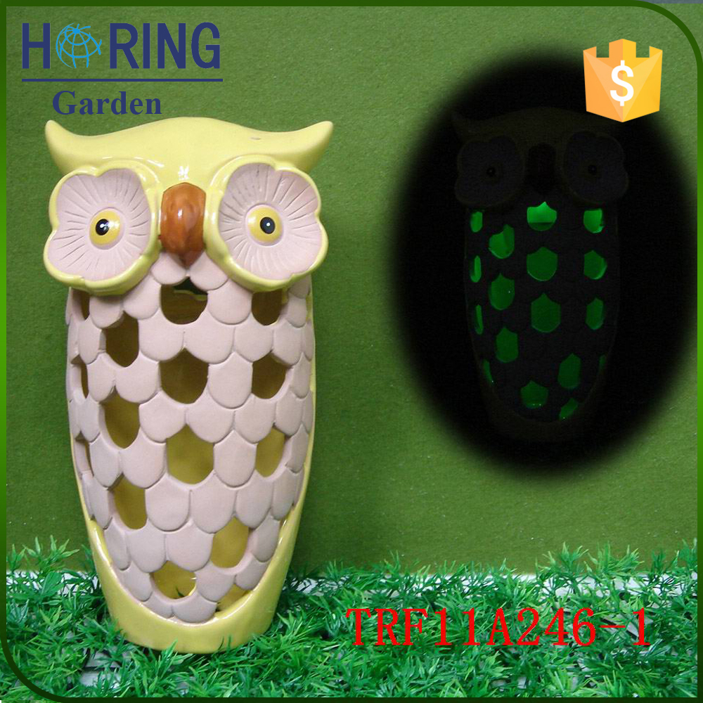 Owl solar led garden light with CE