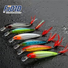 FJORD Wholesale in stock high quality suspending inside laser hard plastic fishing lure minnow