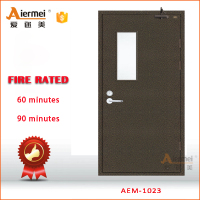 residential fire rated with panic bar single leaf fire resistance door
