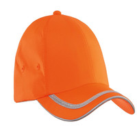high visibility orange fabric Safety Reflective cap for outdoor activity