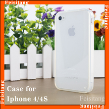 PC transparent phone case TPU soft mobile phone protective case for iphone 4s