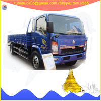ZZ1087D3414D183 China sinotruck howo one cab and half 4*2 110hp 5ton cargo truck dimensions in stock