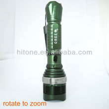 Top quality aluminium CREE Q5 3W 300Lm Rechargeable Zoomable zoom focus LED Flashlight torch zoom HT-Q5-A8