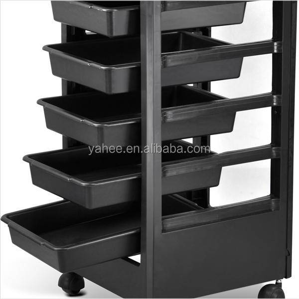 Plastic Hair Salon Trolley Storage Tray Cart Home Spa Hairdressing Trolley