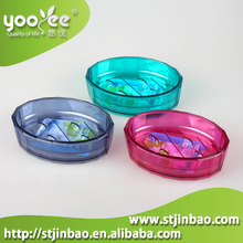 Bath Set Clear Plastic Soap Container, Soap Dish