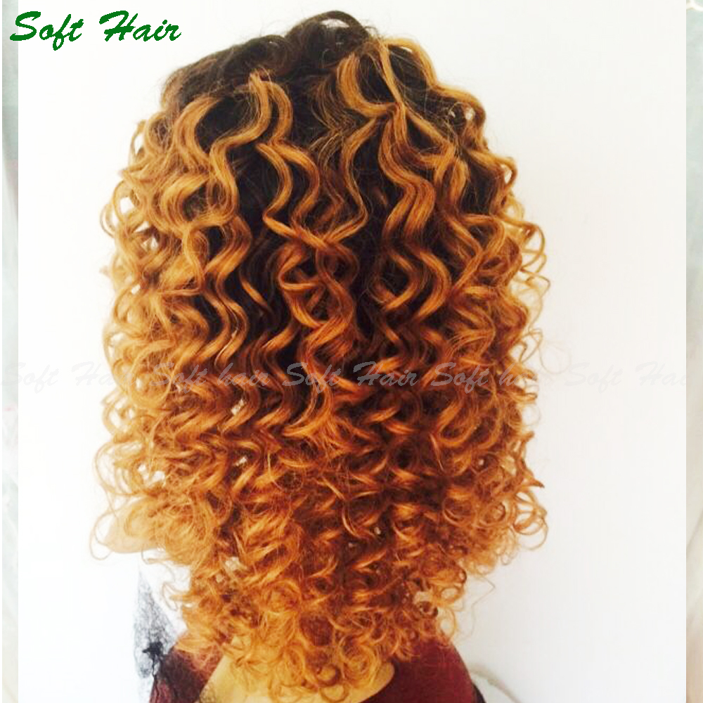 wholesale wig making supplies 100% original lace wig curly blonde full lace wig dark roots
