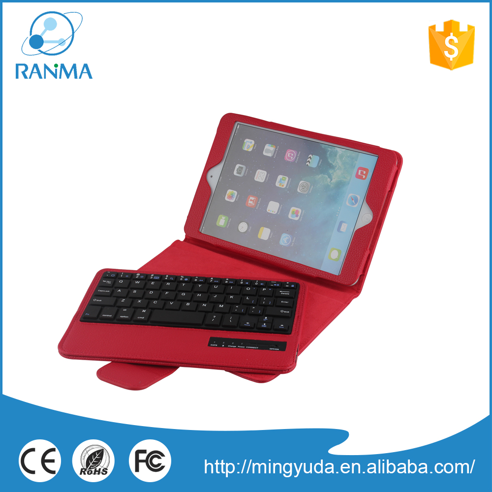 Fashion bluetooth leather colourful tablet keyboard case for ipad mini 3