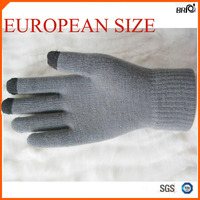 European Extra Long Size Unisex Solid Color Screen Touch Gloves for iphone for Smartphone