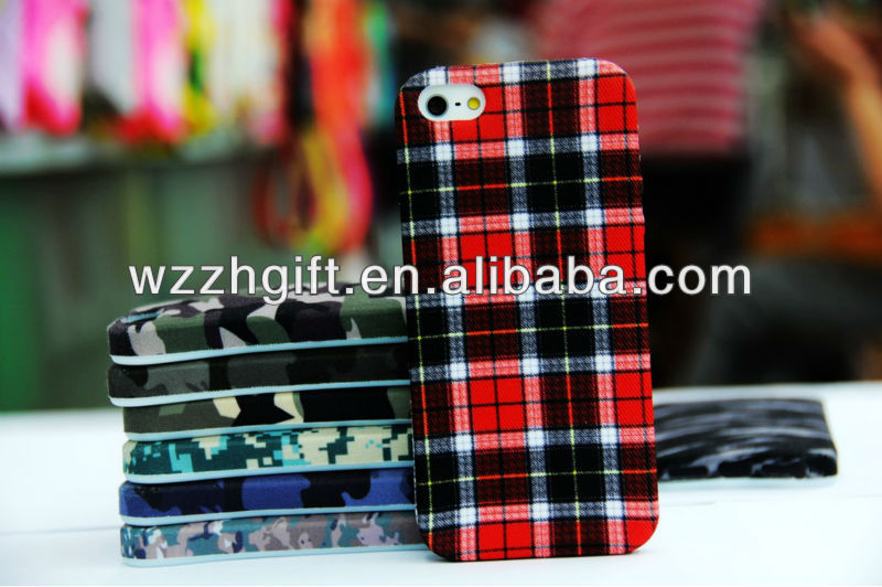 2013 Innovative Plastic + Fabric Phone Case for Iphone 5/5S