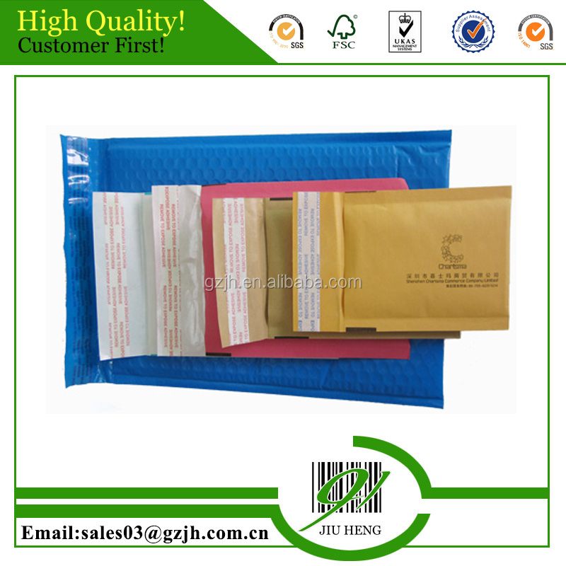 Customized size shipping bubble envelopes printing Guangzhou manufacturer