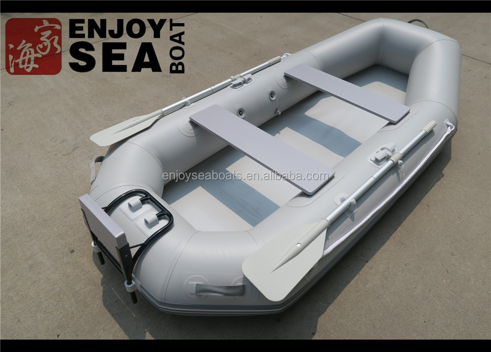 0.9mm pvc light grey inflatable fishing boat for sale malaysia!