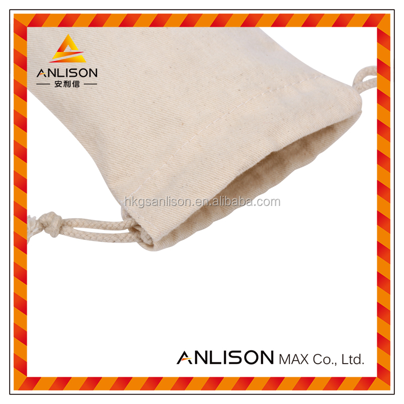 Cotton drawstring packaging bag