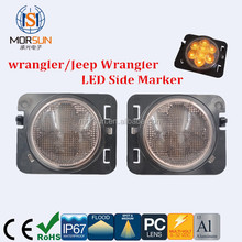 waterproof 12V DC 3W yellow LED Wheel Fender Flare Side Marker amber side Light for JEEP Wrangler trucks