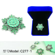 A variety of styles Hot Sale Rhinestone Golf Ball Marker With Cap Clip C277-1 Manufacture& Export