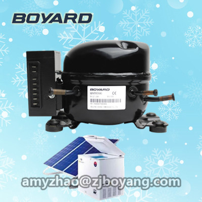 R134a 12V 24V DC Refrigeration <strong>compressor</strong> for 12v 24v wind solar power Small Refrigerator Freezer